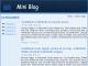 Mini Blog