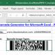 Excel PDF417 Barcode Generator