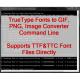 VeryUtils TTF to Image Command Line