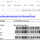 Excel Linear + 2D Barcode Generator