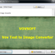 Vov Text to Image Converter