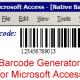 Access Linear Barcode Generator