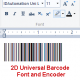 2D Barcode Font and Encoder for Windows
