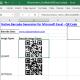 Excel QR Code Barcode Generator