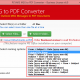 Convert Outlook Message format to PDF online