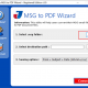 Save Multiple MSG File as PDF